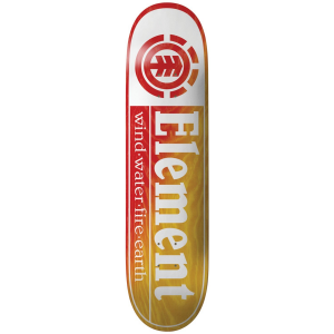 Element Section Yellow Red 8.5 Skateboard Deck 2021 - 8.5